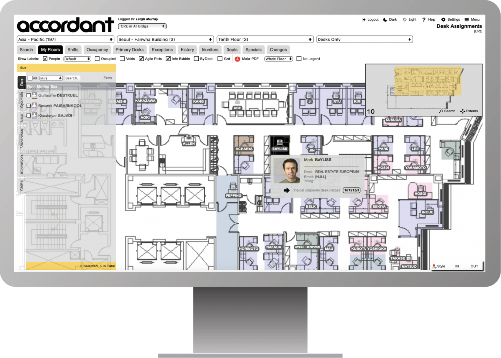 Occupancy view to manage your workspace